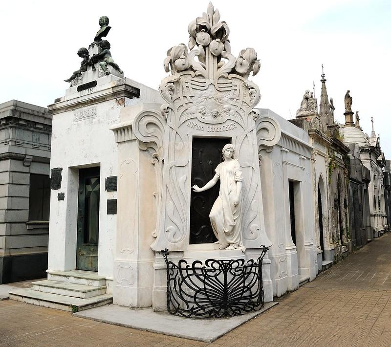 Tumba de Rufina Cambaceres en el Cementerio de la Recoleta en Buenos Aires