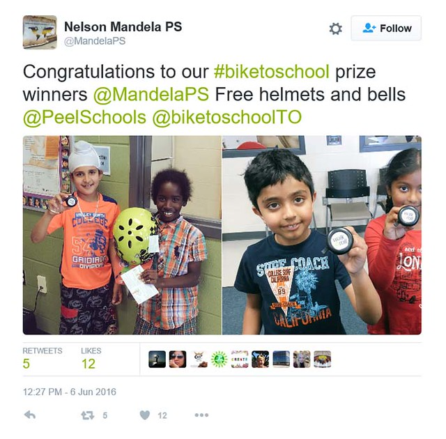 B2SW PDSB Nelson Mandela PS tweet helmets & bells_700