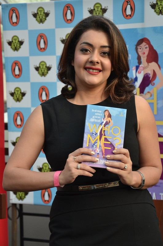 Tina Sharma Tiwari with her book,'Who Me'