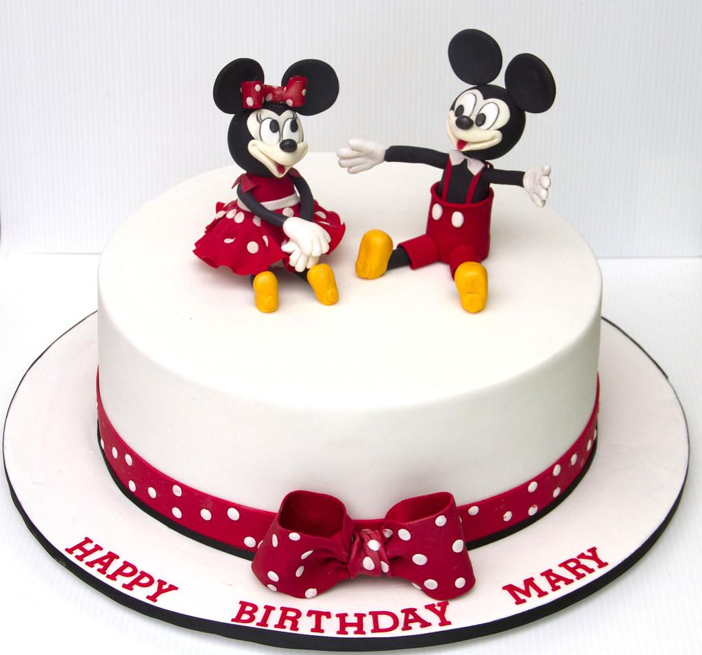 Minnie And Mickey Mouse Birthday Cake Koula Kakopieros Flickr