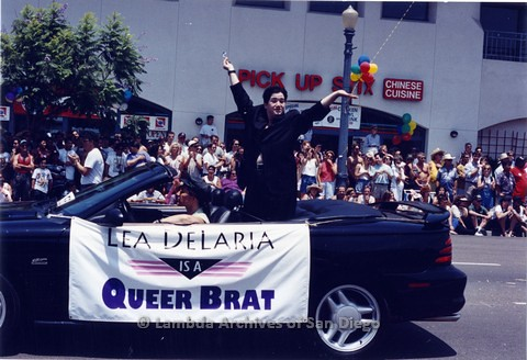 1994 - San Diego LGBT Pride Parade: Contingent - Lesbian Performer and Comic Lea Delaria (center).