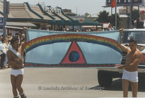 1995 - San Diego LGBT Pride Parade: Contingent - Latinos With Pride., 1995