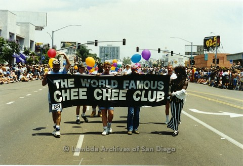 1994 - San Diego LGBT Pride Parade: Contingent - Chee Chee Club, the oldest Gay Bar in Downtown San Diego.