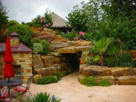 Allison Pools - Walkway with Rock Cave