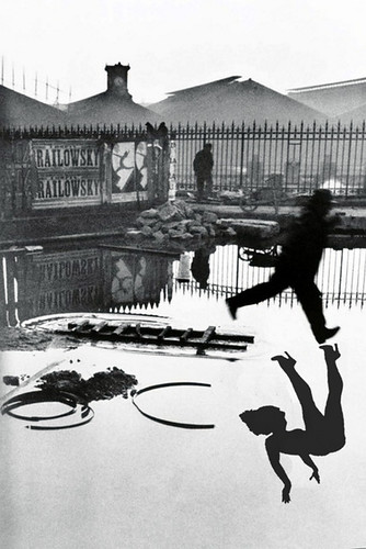 Henri Cartier Bresson Behind the Gare Saint-Lazare, 1932 w Betty shadow