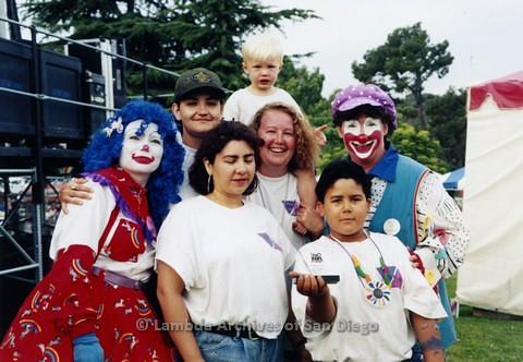 1995 - San Diego LGBT Pride Festival: Children's Garden Area of the Pride Festival.