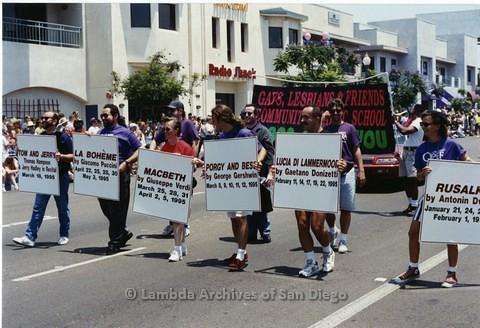 1994 - San Diego LGBT Pride Parade: Contingent - Gays, Lesbians & Friends Community Music School