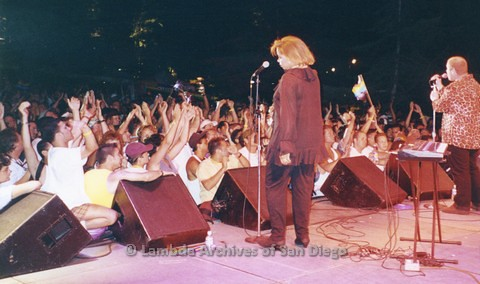1995 - San Diego LGBT Pride Festival: Entertainment Main Stage Performer, Lorie Madison.