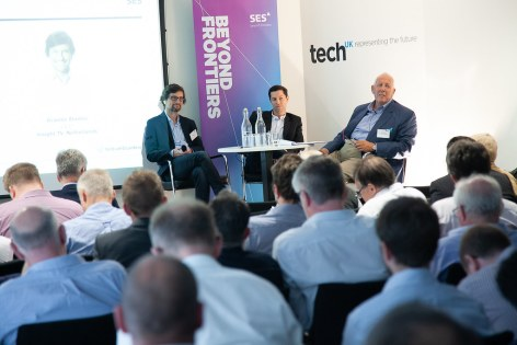 SES Ultra HD Conference 2018 -  Graeme Stanley, CCO, Insight TV, Netherlands, Stéphane Schweitzer, CEO/Founder of Clubbing TV, France, Chris Forrester, Conference Chairman, journalist and industry consultant