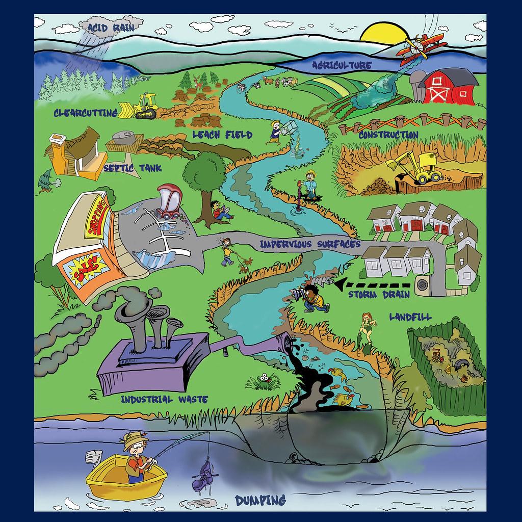 Watershed Cartoon
