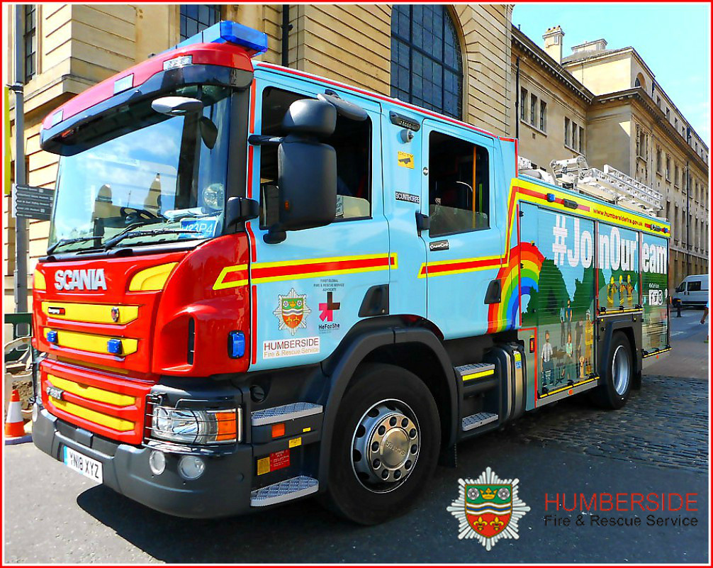 Colourful Fire Engine This Scania P280 Belongs To