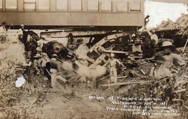 Wreck of Niagara Excursion - Chatwsworth, Illinois