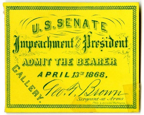 Impeachment of the President - Ticket