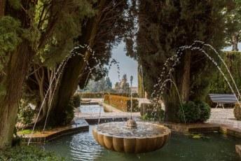 Na de paleizen nog even een ommetje gemaakt door de tuinen van het aangrenzende Generalife.