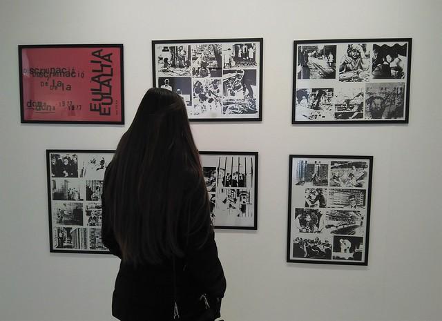 2. Discriminació de la dona (1977), de Eulàlia Grau en la Sala Juana Francés. La Casa de la Mujer, Zaragoza.