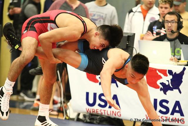 57kg/125.5 lbs.- Brandon Courtney (Arizona State) vs. Malik Heinselman (Titan Mercury). 180519BJF0002