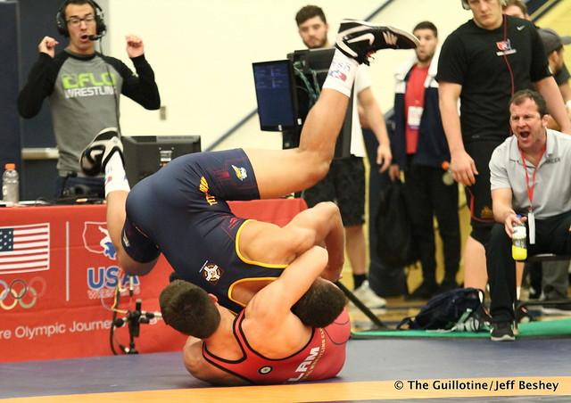 97 kg/213 lbs.- Daniel Kerkvliet (Pinnacle) vs. Zach Elam (Team Central WC). 180519BJF0176
