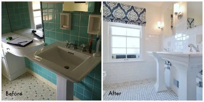 bathroom remodel before and after in