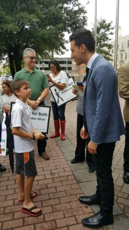 Max meeting his hero David Daleiden. Photo couresty of the Volanski family.