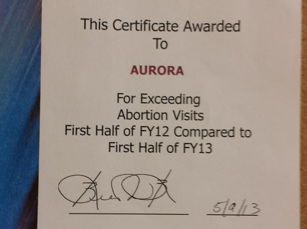 Planned Parenthood's abortion quota certificate proven authentic - by Planned Parenthood