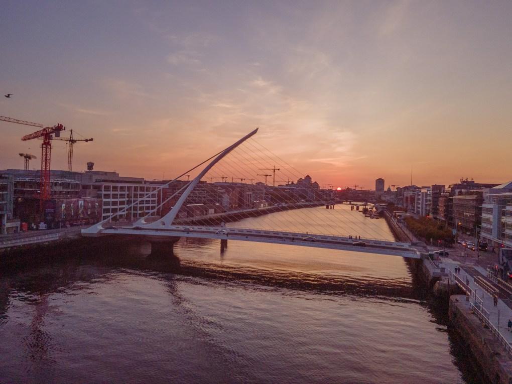 Dublin Sunset - Samuel Beckett Bridge