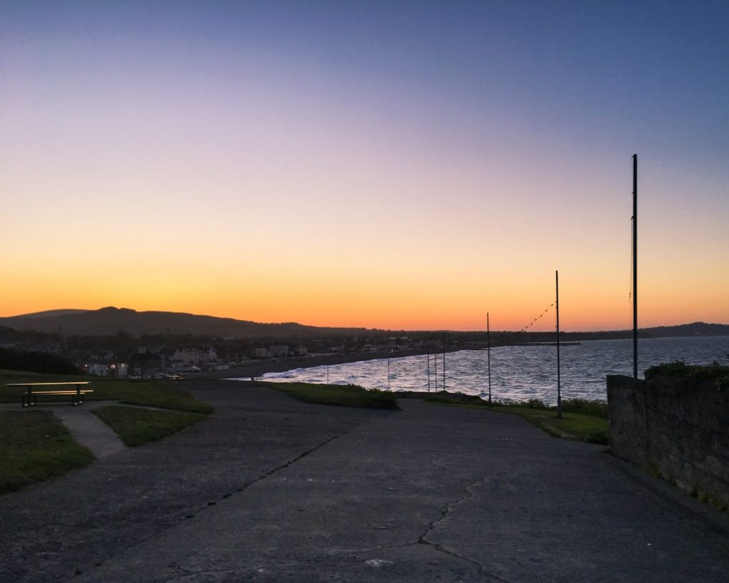 Sunset From Bray Seafront Wicklow