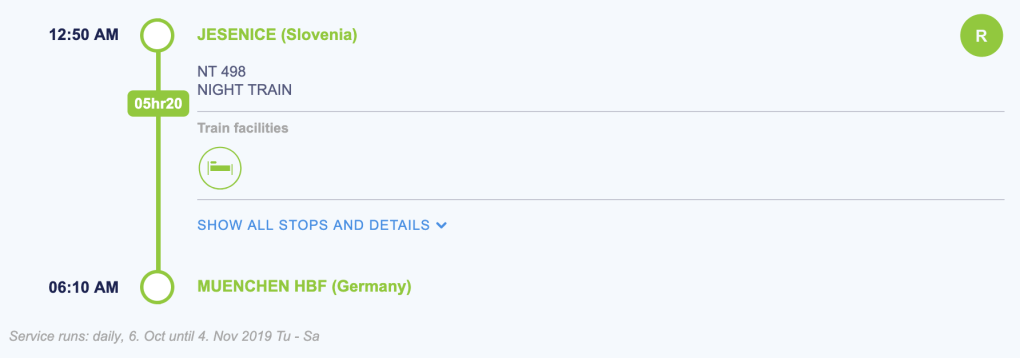Lake Bled (Slovenia) to Munich (Germany)