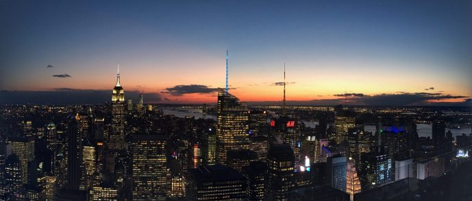 NYC Skyline, Top of the Rock, New York