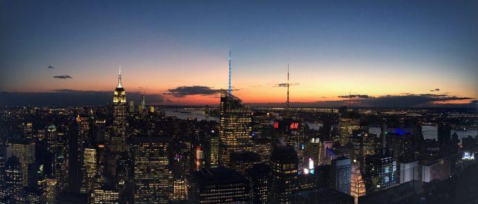 NYC Skyline, Top of the Rock, New York