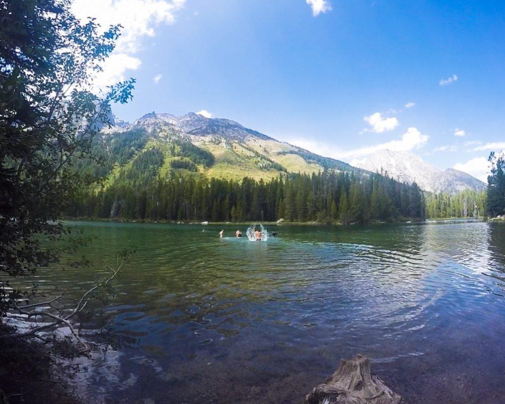 Hiking Grand Tetons Swimming String Lake Grand Tetons