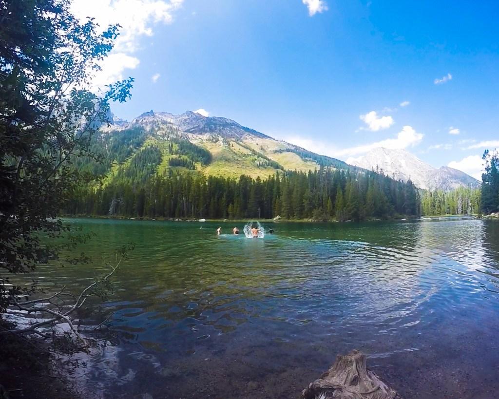 Swimming String Lake Grand Tetons