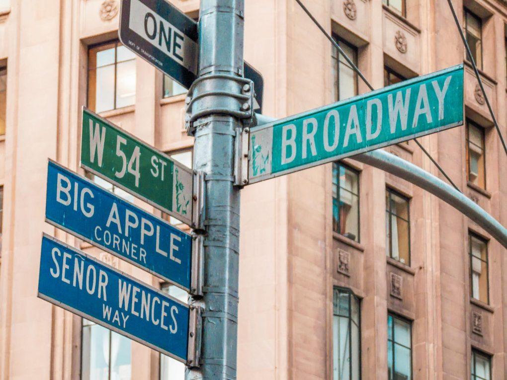 Broadway Sign, New York, USA