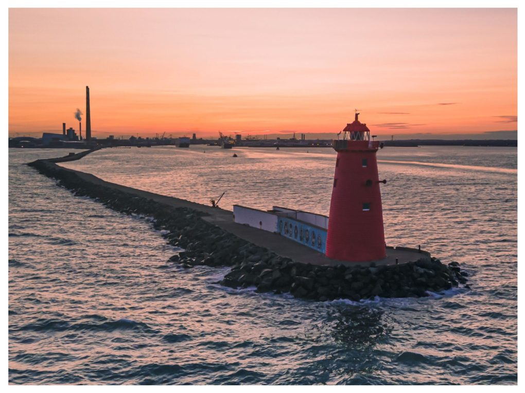 Poolbeg Lighthouse Dublin Ireland