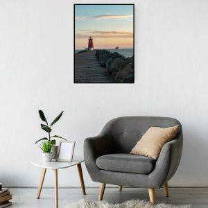 Dublin Prints: Sunrise at Poolbeg Lighthouse (Ireland)