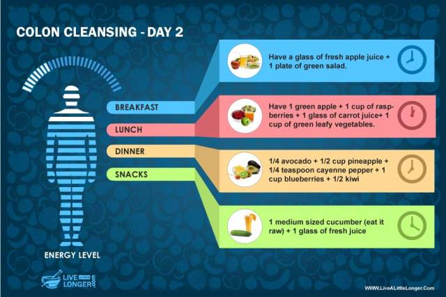 day 2 diet colon cleansing