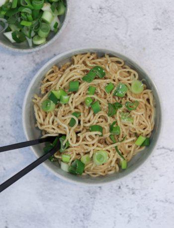 Asiatische Nudeln mit Erdnusssoße 1