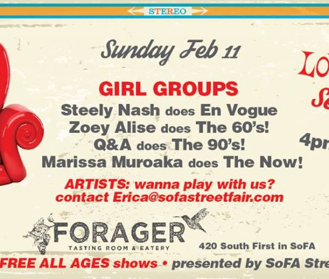 Loveseat Sessions Is Back This Sunday Featuring Your Favorite Local Acts Performing Songs From Iconic Girl Groups