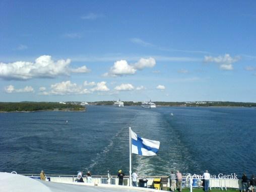 Approaching Mariehamn