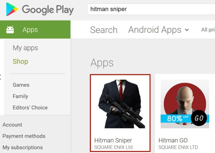 Download and Install Hitman Sniper Apk on Android