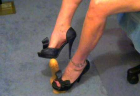 stand on the cock with heels, cbt, foot play, feet fetish cams