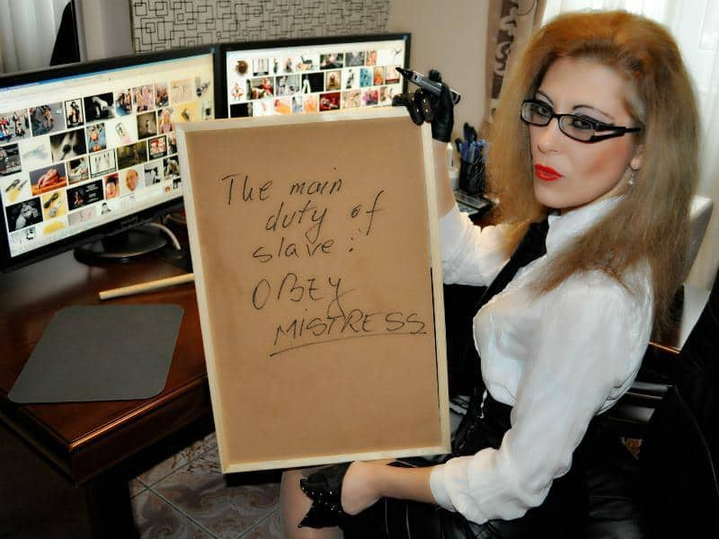 Obey Mistress,Slave rules