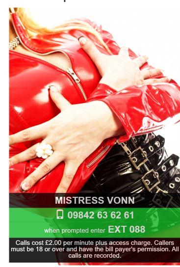 femdom mistress phone chat