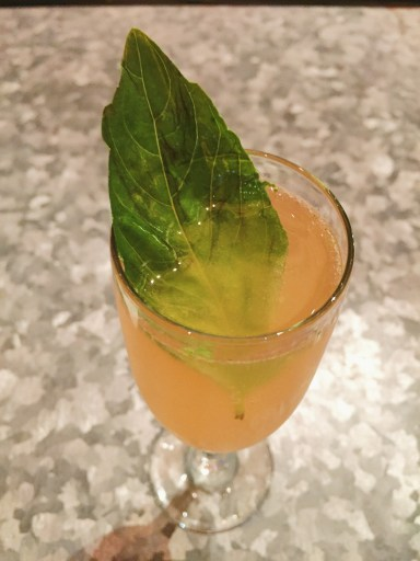 Pegasus cocktail on the new cocktail menu.