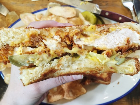 Hot Chicken and Cheese - Nashville Hot Chicken Grilled Cheese