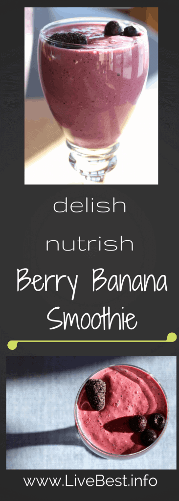 Berry Banana Smoothie | My #1 protein-rich smoothie recipe. So refreshing and SOOO much health-boosting goodness! Real food naturally. www.LiveBest.info