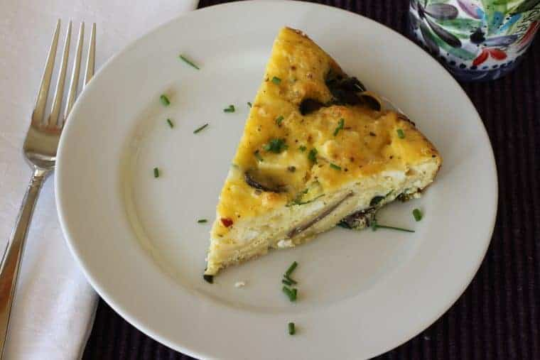 Mushroom Spinach Frittata | Frittata are great for breakfast and dinner! www.LiveBest.info