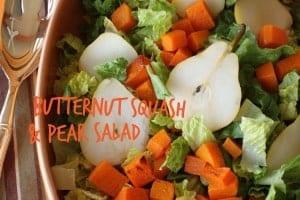 Pear, butternut squash salad