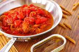 Tomato anchovy sauce