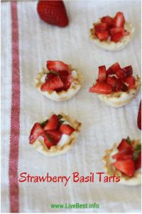Strawberry Basil Tarts