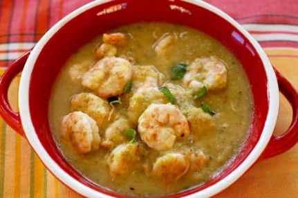 Mojito Shrimp in bowl
